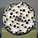 Detail view of the boring face of the 7-meter diameter Robbins Tunnel Boring Machine engineering scale model
