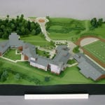 Full view from the west of the architectural scale model of Eastside Catholic High School created for Integrus Architecture