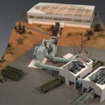 Full view of the engineering scale model of a recovery facility