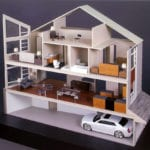 Full view of an architectural interior design study constructed for Effective Design Studio of Seattle