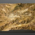 Full view of Ash Meadows National Wildlife Refuge topographic scale model