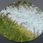 Full view of the Denali National Park topographic scale model