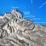 Detail view of the Santa Cruz topographic scale model