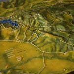 Three-quarter view of the tactile topographic scale model of Trione-Annadel State Park