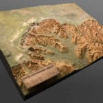 Full view of Bryce Canyon National Park outdoor topographic scale model