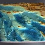 Full view of Channel Islands National Park topographic scale model