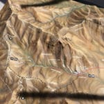Coronado National Memorial topographic scale model detail showing features and trails