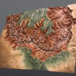 Full view of the Grand Canyon National Park topographic scale model