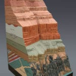 Full view of the Grand Canyon Geologic Column scale model