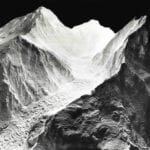 View of the Mount Everest topographic scale model showing glacier detail