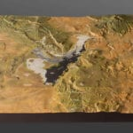 Full view of the El Malpais National Monument topographic scale model