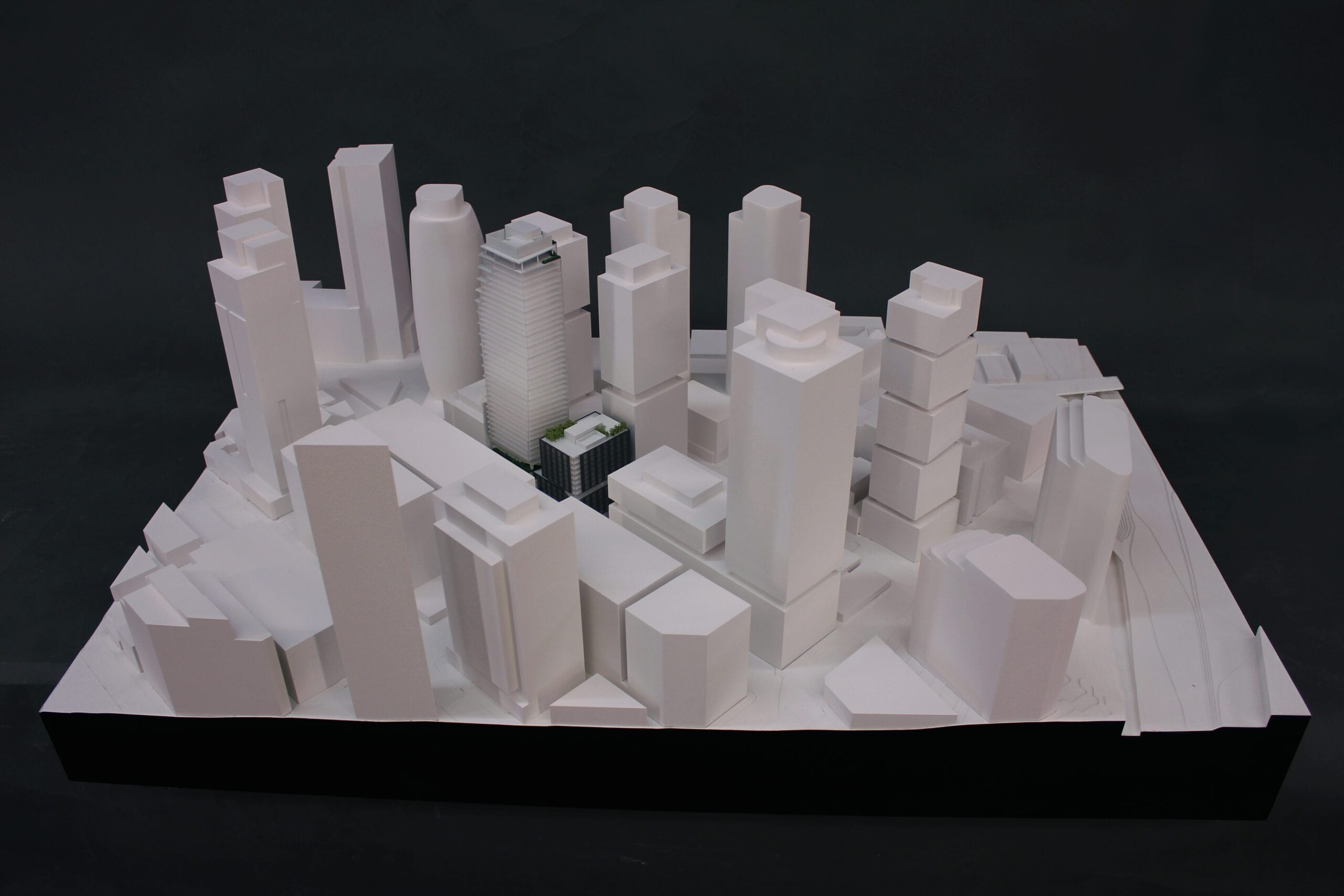 Full view of the architectural scale model of the Boren Project