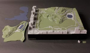 Architectural scale model of a second design alternative for the North end of New York's Central Park
