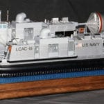 Port side view of the U. S. Navy hovercraft engineering scale model