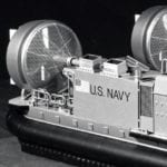 Detail view of the stern of the U. S. Navy hovercraft engineering scale model