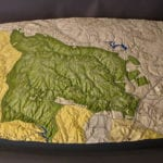 Full View of Prince William County, Virginia topographic scale model