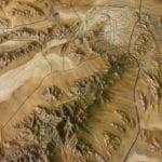 Details of terrain on the Ash Meadows National Wildlife Refuge topographic scale model