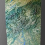 Full view of the topographic scale model of North Carolina's Gorges State Park