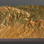 Full view of the topographic scale model of Bryce Canyon National Park