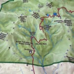 Lassen Volcanic National Park topographic scale model trail and campground details