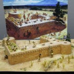 Full view of the museum scale model of the Tusayan Pueblo