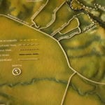 Close-up of the legend of the tactile topographic scale model of Trione-Annadel State Park