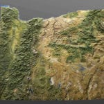 Full view of the Oregon State topographic scale model