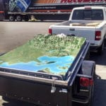 The Watershed topographic scale model in transit