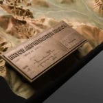 Legend of Bryce Canyon National Park outdoor topographic scale model