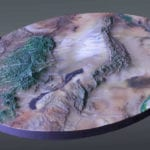 Full view of the White Sands National Monument topographic scale model