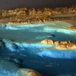 Channel Islands National Park topographic scale model showing terrain and bathymetry detail