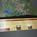 Rocky Mountain National Park topographic scale model information panel
