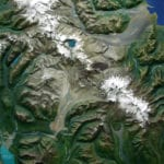 Detail view of Katmai National Park and Preserve topographic scale model