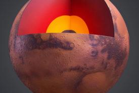 Mars Cut-away Globe