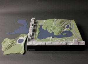 Architectural scale model of one design alternative for the North end of New York's Central Park